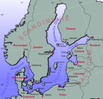 The Baltic Sea, sailing area of the Baltic Trader